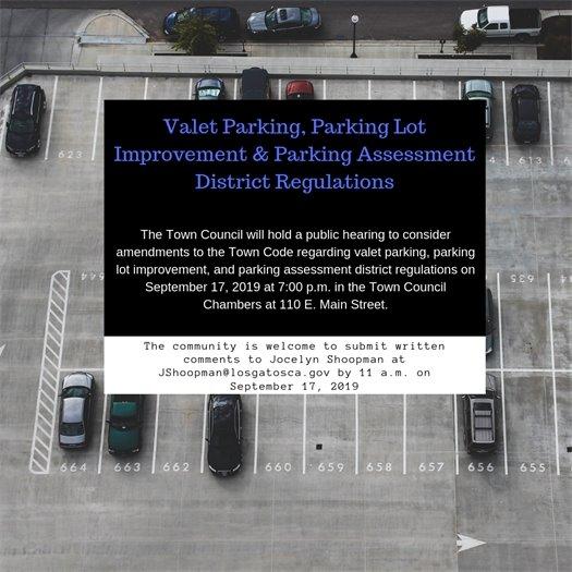 Valet Parking, Parking Lot Improvement, & Parking Assessment District Regulations