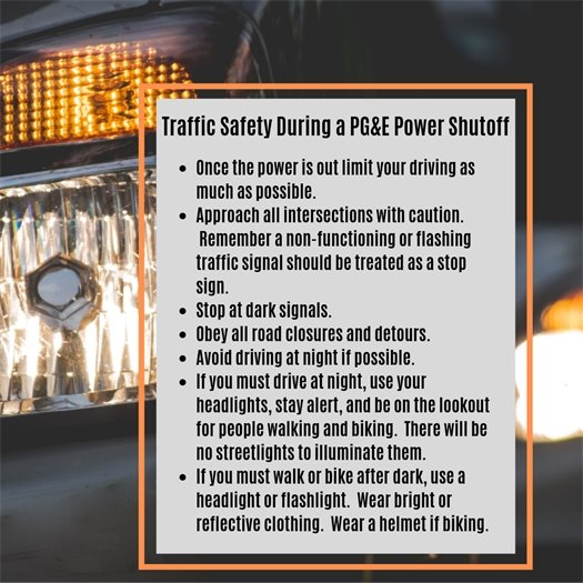 Traffic Safety During a PG&E Power Shutoff