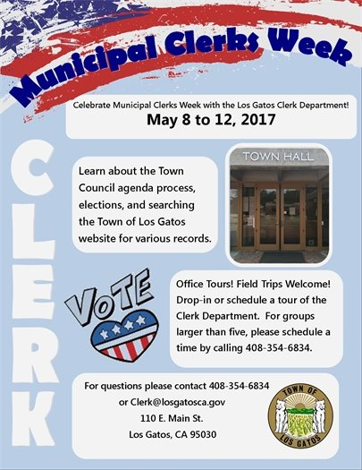 Municipal Clerks Week May 8 to 12, 2017