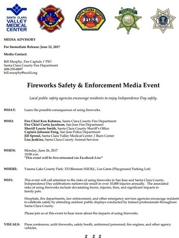 Fireworks Safety & Enforcement Media Event