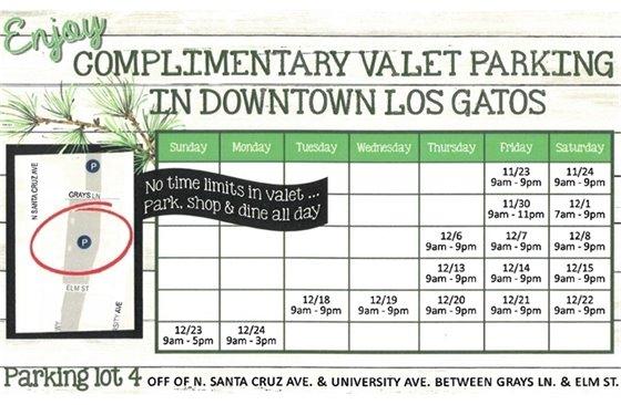 Valet Parking Schedule Image