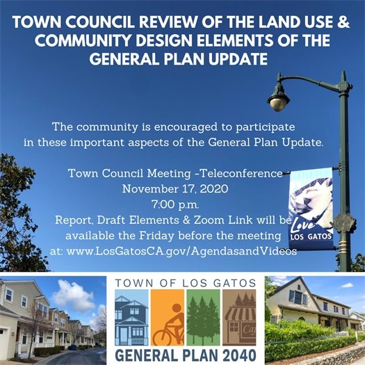 Land Use and Community Design Elements at Town Council November 17, 2020