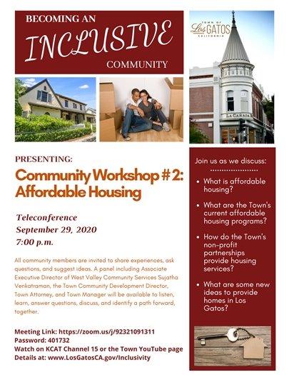 Community Workshop #2 Affordable Housing