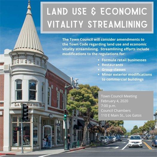 Land Use and Economic Vitality Streamlining