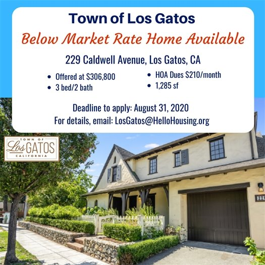 Below Market Rate Home Available