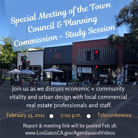 Special Meeting of the Town Council & Planning Commission - Study Session