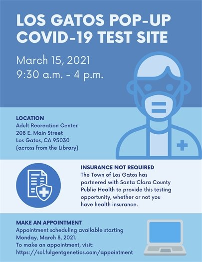 COVID-19 Pop-Up Test Site March 15, 2021
