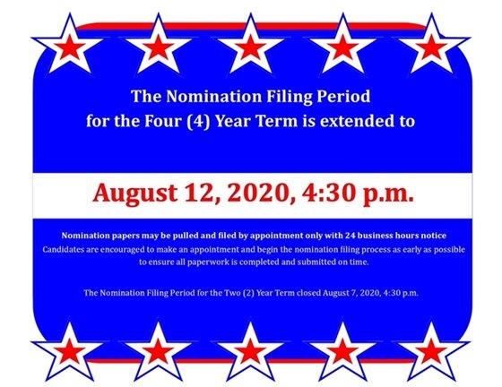 Nomination Filing Extension