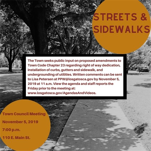 Streets & Sidewalks