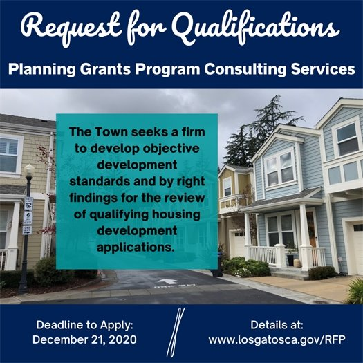 Request for Qualifications - Planning Grants Program Consulting Services