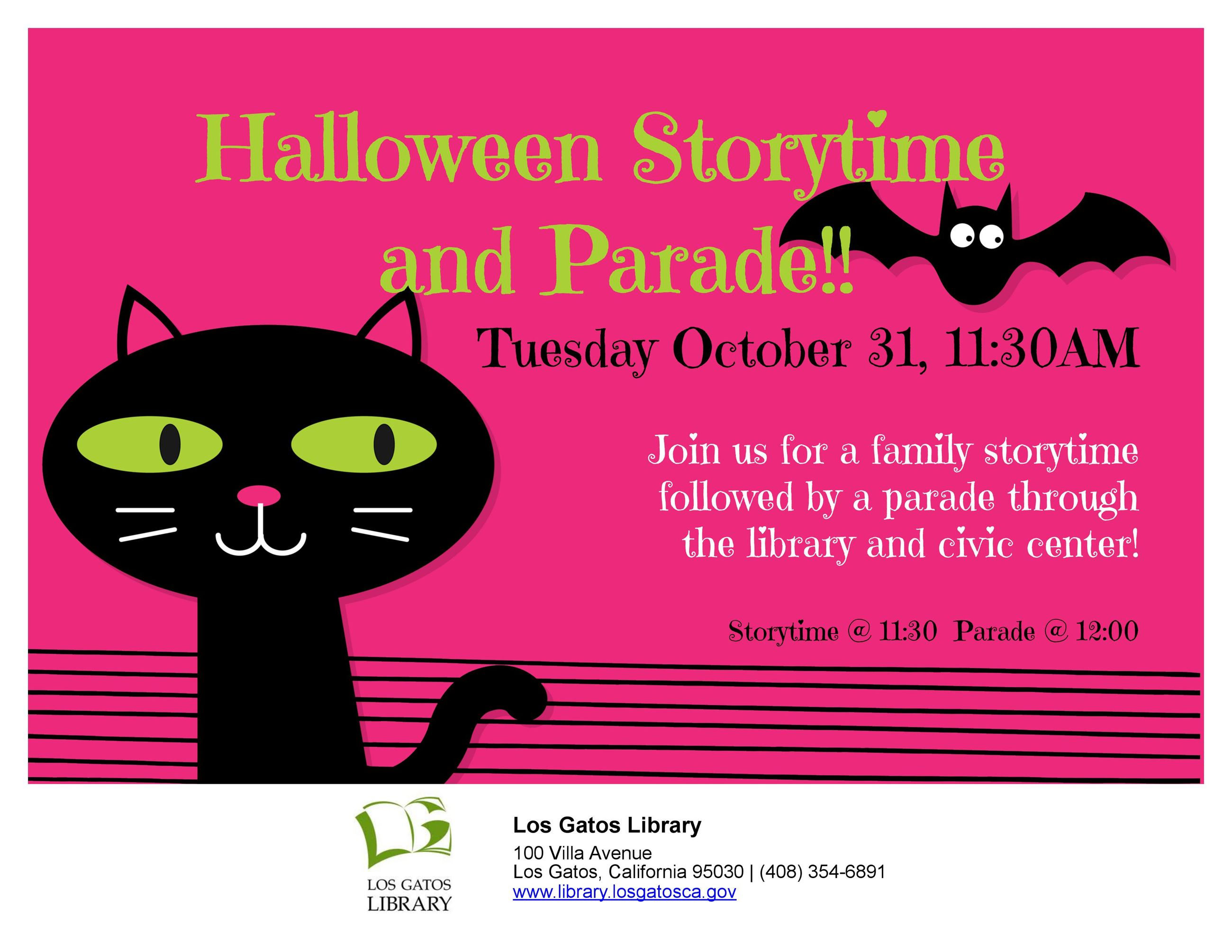 halloween storytime parade