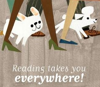 Reading takes you everywhere!  Explore your neighborhood with Gaston & Antoinette.