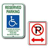 Image of Parking signs