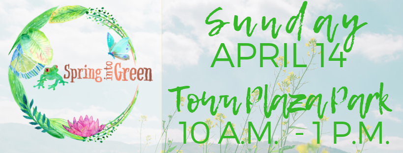 Spring into Green Website Banner
