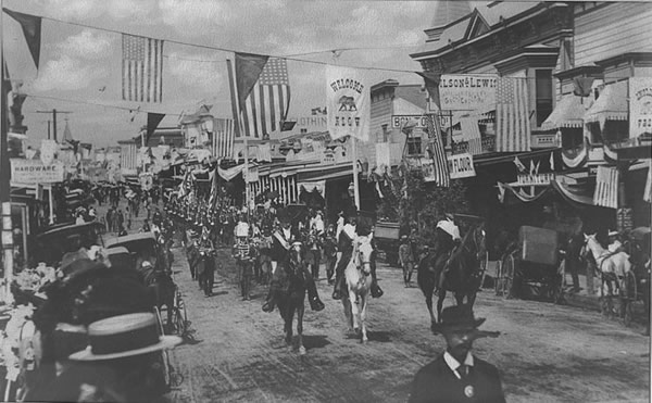 4th of July Celebration in 1900: Los Gatos, CA